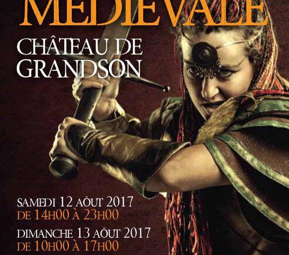 Fête médiévale au château de Grandson 12-13 août 2017